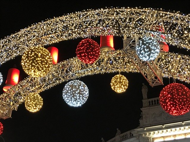 Vánoční oblouk na Rathausplatz